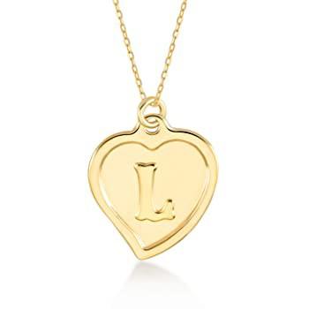 大洲市 GELIN 14k Solid Gold Initial Letter Alphabet