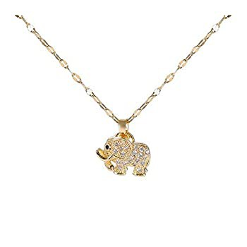 ★お求めやすく価格改定★ Huifeng Classic Shiny Lucky Elephant Pendant Necklace, Romantic Elements, high-Level Texture, Suitable for Ladies' Valentine's D, SaganStyle 73441e43