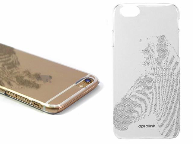 【aprolink】Apple iPhone 6/6s 4.7インチ アニマルコード柄 クリアハードケース#ゼブラ 送料込