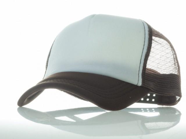 アールつば 無地 カジュアル 調節可能 通気性 網目 ベースボールキャップ/野球帽/帽子 #茶色×白 送料込