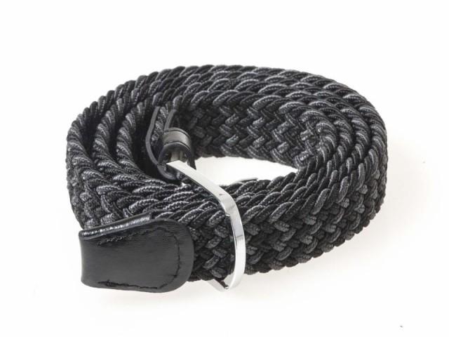 レディース ファッション キャンバス製 細め 100cm#ブラック+グレー
