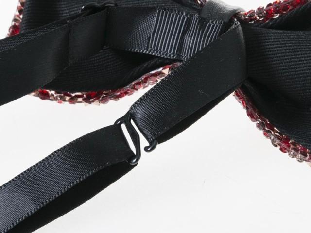 メンズファッション ビジネス カジュアル きらきら ラインストーン飾り入り 蝶ネクタイ ボウタイ#タイプB/黒【新品/送料込み】