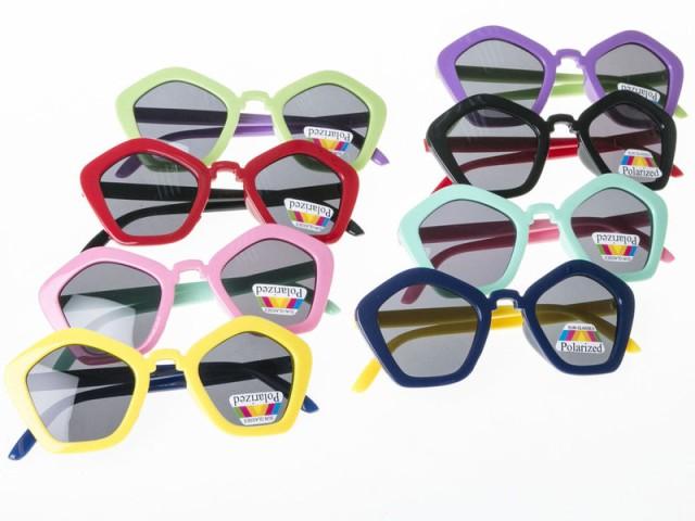伊達メガネ 五角形 ファッション 子供用サングラス#パープル
