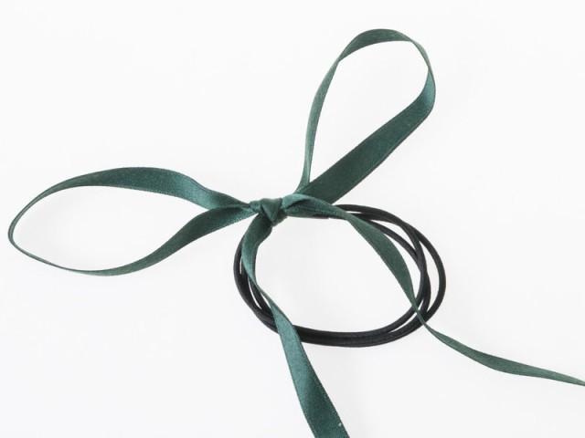 レディースファッション 上品感 お洒落 リボン飾り ヘアリング ヘアバンド アクセサリー#グリーン【新品/送料込み】