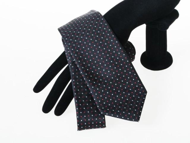ファッション小物 シンプル カジュアル ビジネス 正装 スーツなど 水玉 ドット ネクタイ#ダークブラウン 送料込
