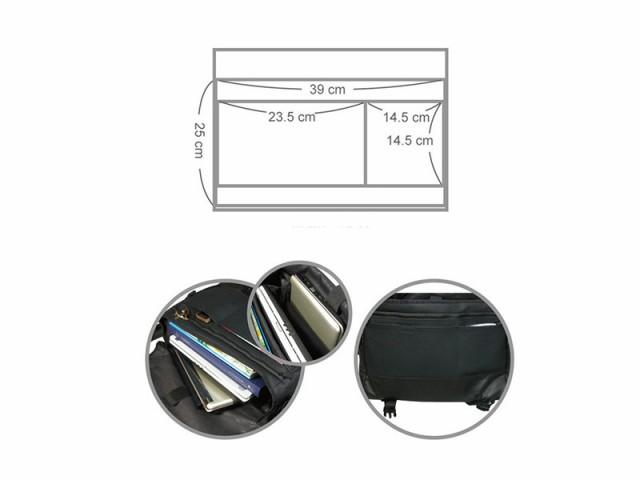 【VAX B. MESSENGER】超軽量バックパック・リュックサック【7-10インチタブレット、15.4インチノートPC対応】#シルバー
