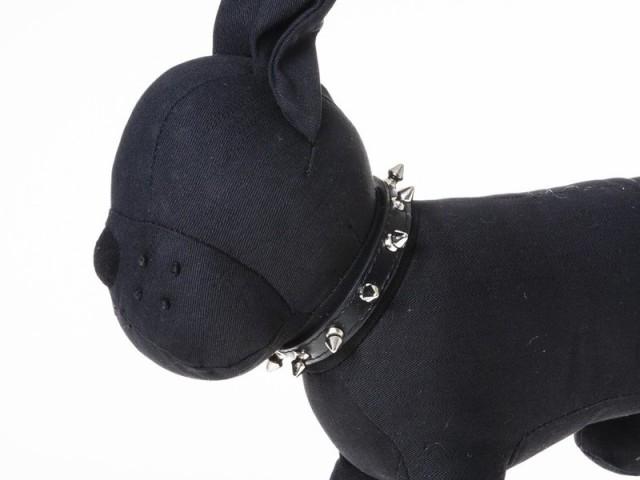 犬用首輪 ペット トゲトゲ スパイク スタッズデザイン Mサイズ#ブラック 送料込
