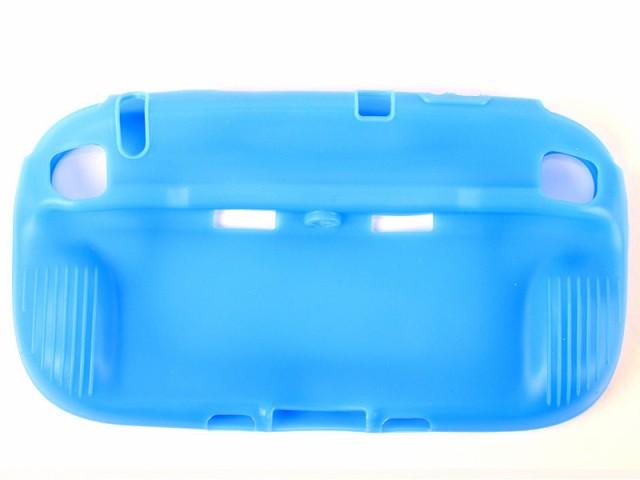 ニンテント Wii U game pad用 滑り止め TPUシリコン製 保護カバー ソフトカバー#ブルー【新品/送料込み】
