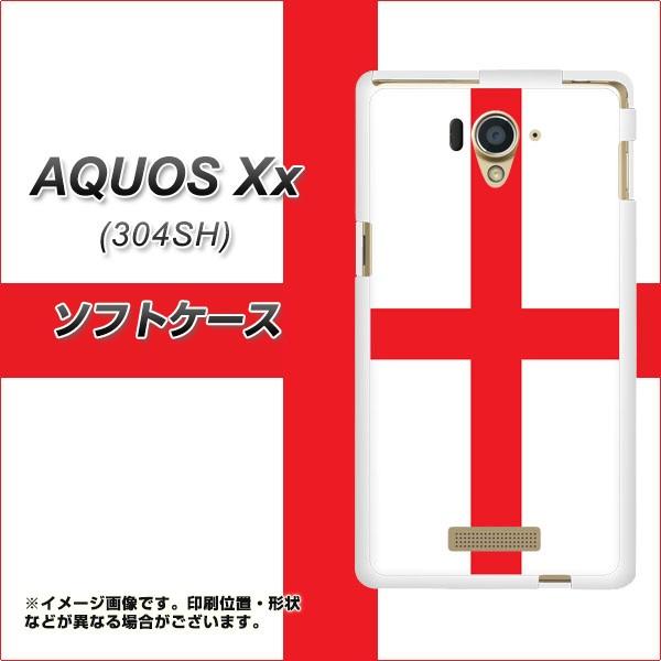 AQUOS Xx 304SH TPU ソフトケース / やわらかカバー【677 イングランド 素材ホワイト】 UV印刷 (アクオス ダブルエックス/304SH用)