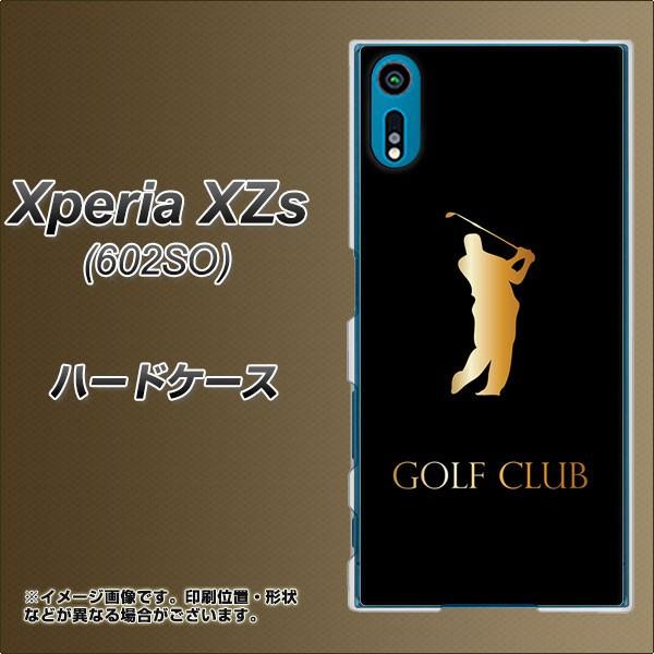 softbank Xperia XZs 602SO ハードケース / カバー【610 GOLFCLUB 素材クリア】(softbank エクスペリアXZs 602SO/602SO用)