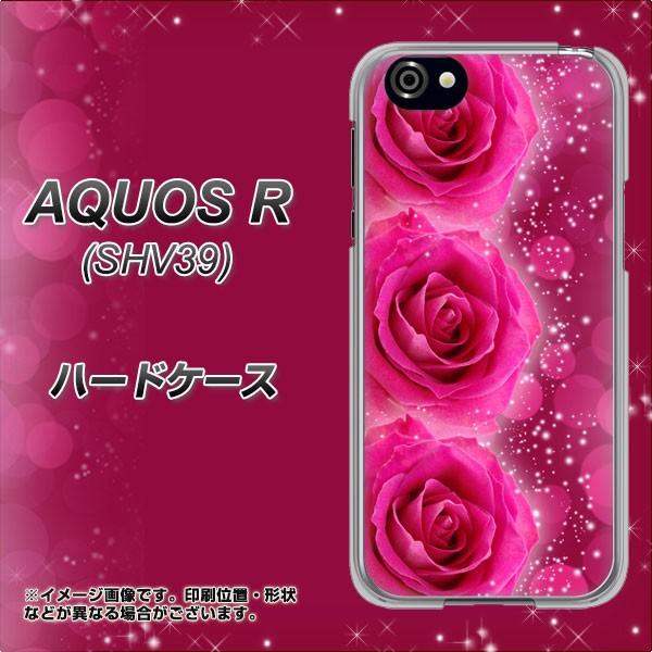 AQUOS R 605SH ハードケース / カバー【VA815 3連のバラ 素材クリア】(アクオスR 605SH/605SH用)