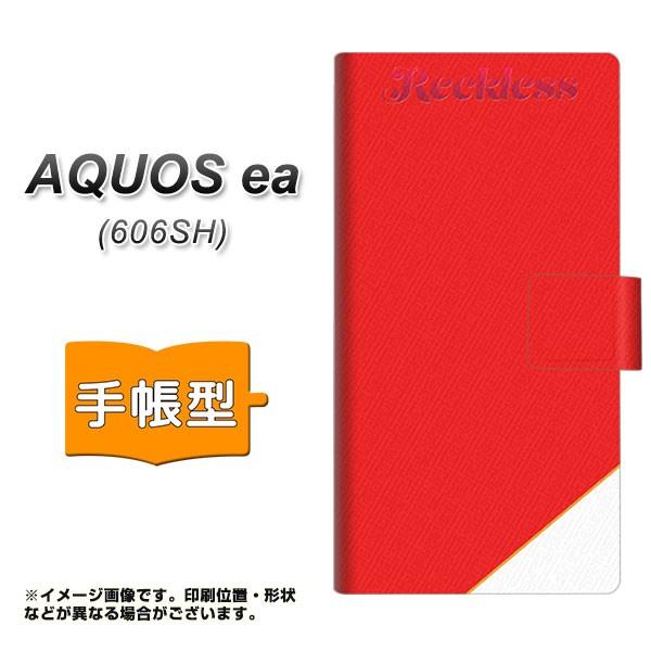 メール便 AQUOS ea 606SH 手帳型スマホケース 【 YC860 レクレスレッド 】横開き (アクオスea 606SH/606SH用/スマホケース/手帳