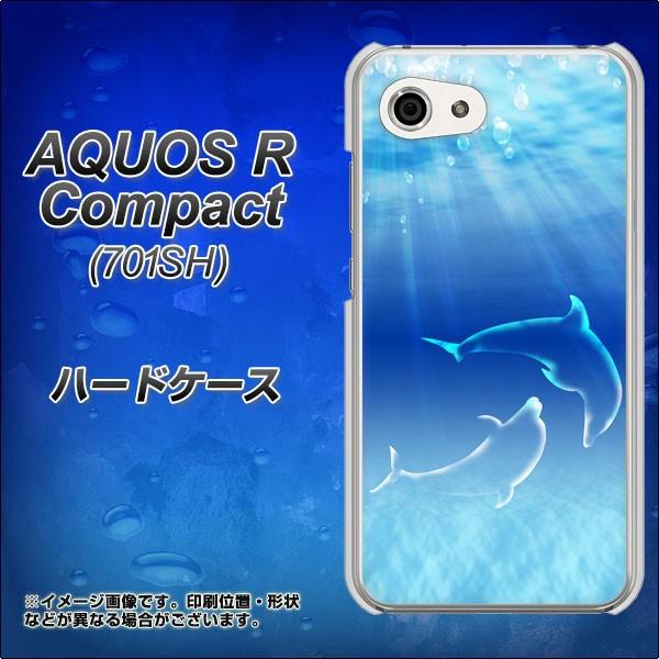 AQUOS R Compact 701SH ハードケース / カバー【1048 海の守り神イルカ 素材クリア】(アクオスR コンパクト 701SH/701SH用)