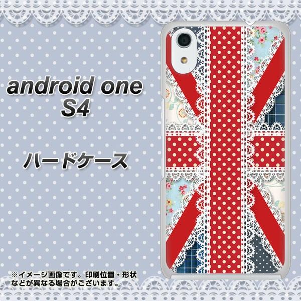 android one S4 ハードケース / カバー【SC805 ユニオンジャック レース 素材クリア】(アンドロイドワン S4/ANDONES4用)