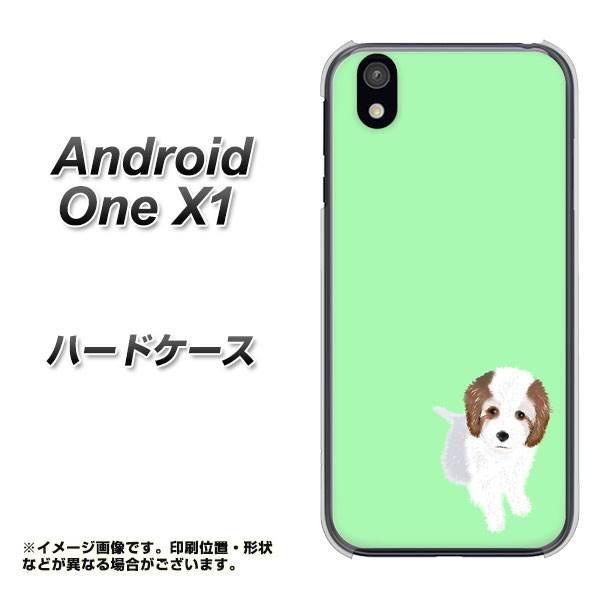 android one X1 ハードケース / カバー【YJ059 トイプー03 グリーン  素材クリア】(アンドロイドワン X1/ANDONEX1用)