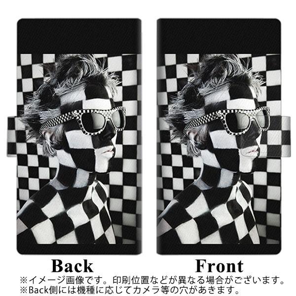 メール便送料無料 ZenFone3 Laser ZC551KL 手帳型スマホケース 【 357 bk&wh 】横開き (ゼンフォン3レーザー ZC551KL/ZC551KL用/スマホ