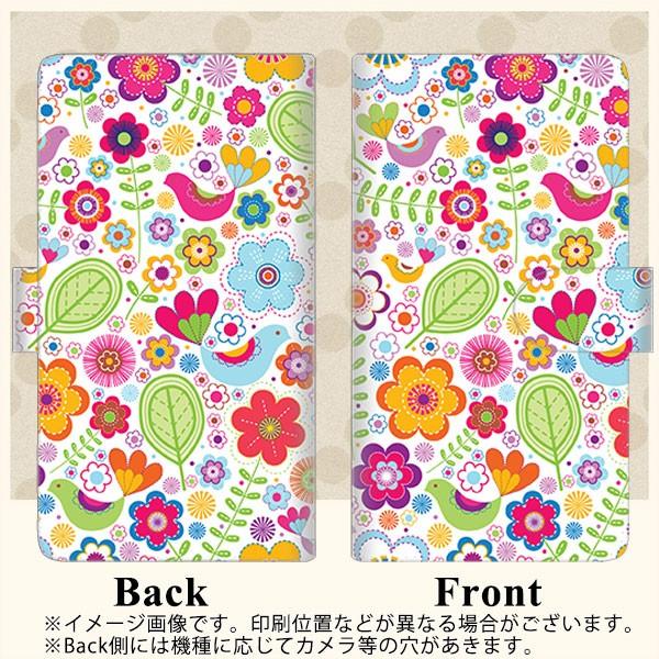 メール便送料無料 Galaxy S8 SC-02J 手帳型スマホケース 【ステッチタイプ】 【 477 幸せな絵 】横開き (ギャラクシーS8 SC-02J/SC02J用/