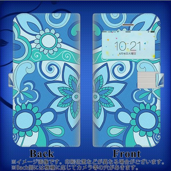 【メール便】 iPhone6s   スマホケース手帳型 窓付きケース カードポケットver 液晶保護フィルム付 【409 ブルーミックス】(アイ
