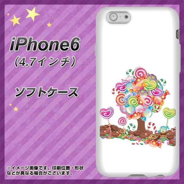 iPhone6 (4.7インチ) TPU ソフトケース / やわらかカバー【381 デコツリー 素材ホワイト】 UV印刷 (アイフォン6 (4.7インチ)/IPHONE6用