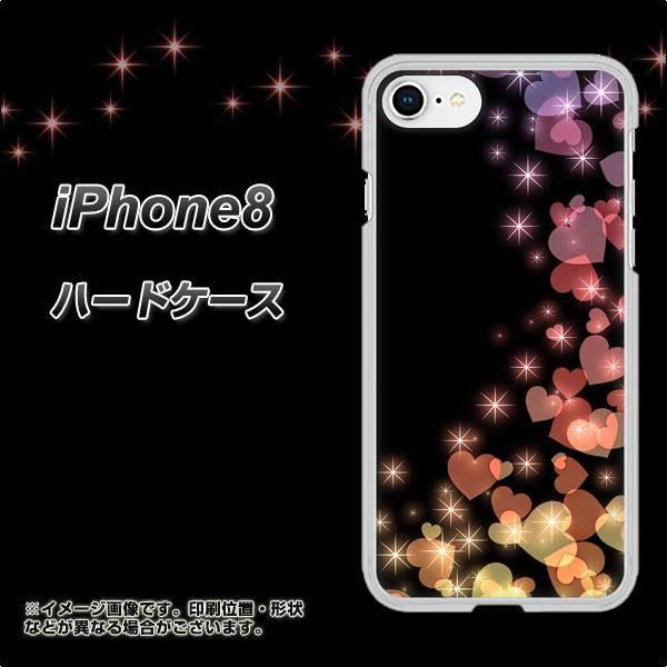 iPhone8 ハードケース / カバー【020 夜のきらめきハート 素材クリア】(アイフォン8/IPHONE8用)