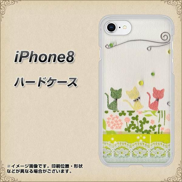 iPhone8 ハードケース / カバー【1106 クラフト写真 ネコ (ワイヤー2) 素材クリア】(アイフォン8/IPHONE8用)