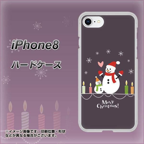 iPhone8 ハードケース / カバー【XA809 雪だるまの親子 素材クリア】(アイフォン8/IPHONE8用)