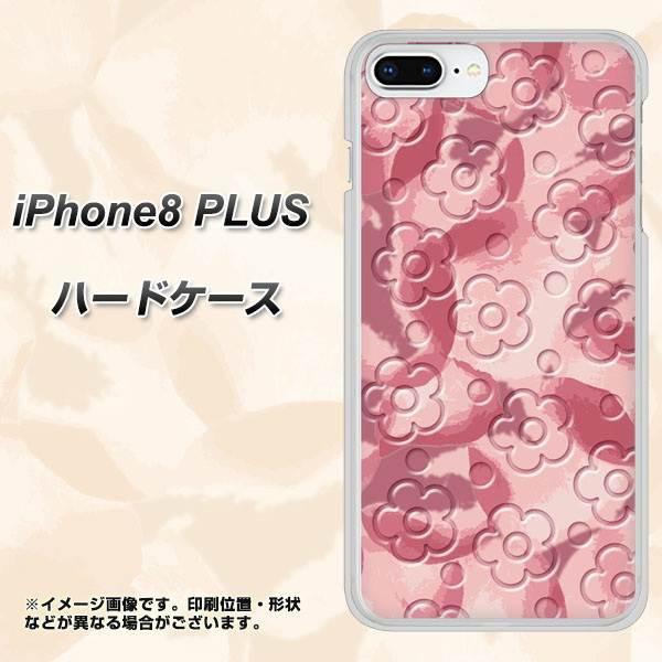 iPhone8 PLUS ハードケース / カバー【SC846 フラワーヴェルニ花ピンク 素材クリア】(アイフォン8 プラス/IPHONE8PULS用)