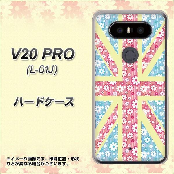 docomo V20 PRO L-01J ハードケース / カバー【EK895 ユニオンジャック パステルフラワー 素材クリア】(docomo V20 PRO L-01J/L01J用)