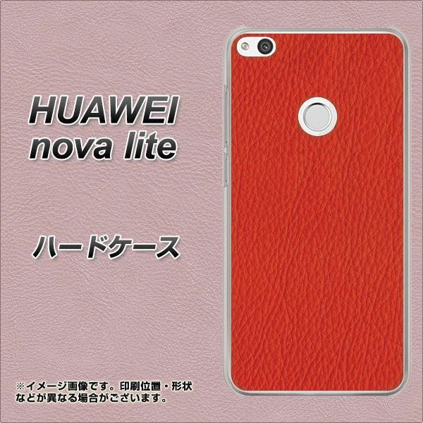 HUAWEI nova lite ハードケース / カバー【EK852 レザー風レッド 素材クリア】(ファーウェイ nova lite/NOVALITE用)