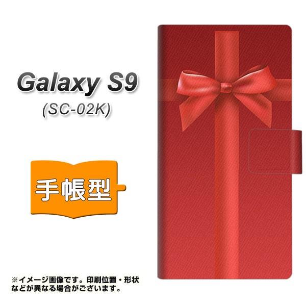 メール便 docomo Galaxy S9 SC-02K 手帳型スマホケース 【 YB851 リボンクロス02 】横開き (ギャラクシー S9 SC-02K/SC02K用/ス