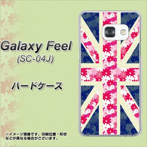 Galaxy Feel SC-04J ハードケース / カバー【EK894 ユニオンジャック フラワー 素材クリア】(ギャラクシー フィール SC-04J/SC04J用)