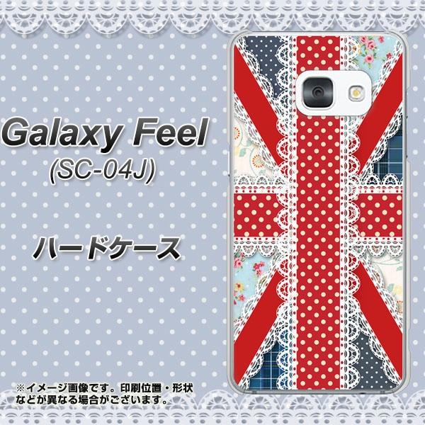 Galaxy Feel SC-04J ハードケース / カバー【SC805 ユニオンジャック レース 素材クリア】(ギャラクシー フィール SC-04J/SC04J用)