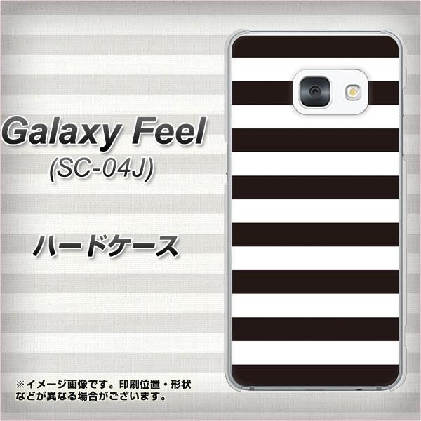 Galaxy Feel SC-04J ハードケース / カバー【VA944 THE ボーダー黒 素材クリア】(ギャラクシー フィール SC-04J/SC04J用)