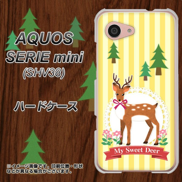 AQUOS SERIE mini SHV38 ハードケース / カバー【SC826 森の鹿 素材クリア】(アクオス セリエ ミニ SHV38/SHV38用)