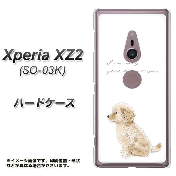 docomo Xperia XZ2 SO-03K ハードケース / カバー【YJ192 ゴールデンレトリバー かわいい 犬 素材クリア】(docomo エクスペリア XZ2 SO-