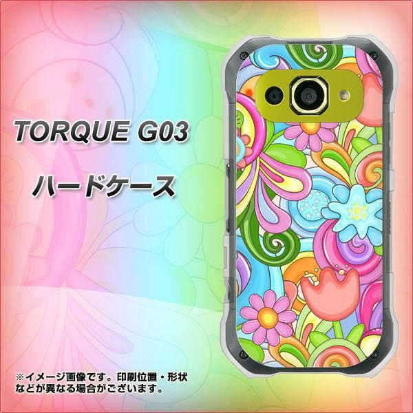 TORQUE G03 ハードケース / カバー【713 ミラクルフラワー 素材クリア】(トルク G03/TORQUEG03用)