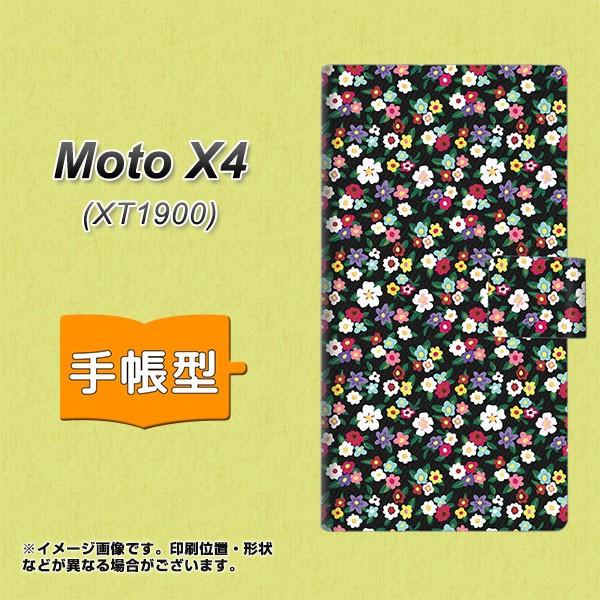 メール便 Moto X4 XT1900 手帳型スマホケース 【 778 マイクロリバティプリントBK 】横開き (モト X4 XT1900/XT1900用/スマホケ