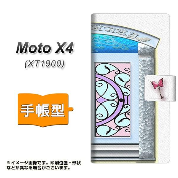 メール便 Moto X4 XT1900 手帳型スマホケース 【 YA966 魔法のドア01 】横開き (モト X4 XT1900/XT1900用/スマホケース/手帳式)