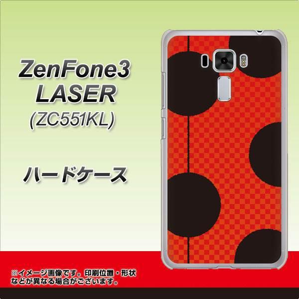ZenFone3 Laser ZC551KL ハードケース / カバー【IB906 てんとうむしのドット 素材クリア】(ゼンフォン3レーザー ZC551KL/ZC551KL用)