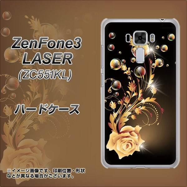 ZenFone3 Laser ZC551KL ハードケース / カバー【VA823 気高きバラ 素材クリア】(ゼンフォン3レーザー ZC551KL/ZC551KL用)
