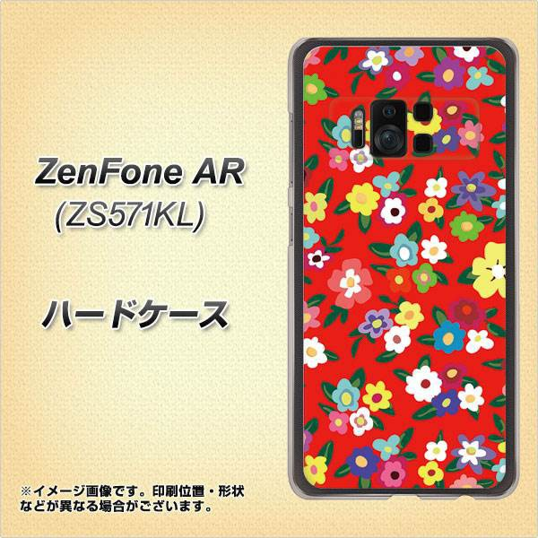 ZenFone AR ZS571KL ハードケース / カバー【780 リバティプリントRD 素材クリア】(ゼンフォンAR ZS571KL/ZS571KL用)