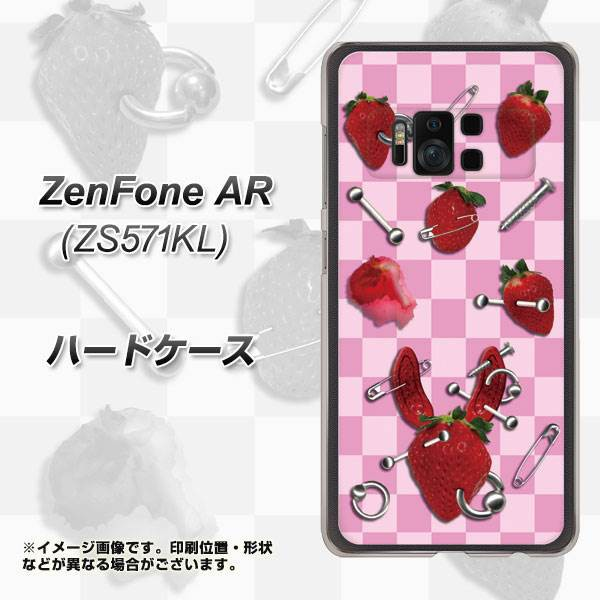 ZenFone AR ZS571KL ハードケース / カバー【AG832 苺パンク(ピンク) 素材クリア】(ゼンフォンAR ZS571KL/ZS571KL用)