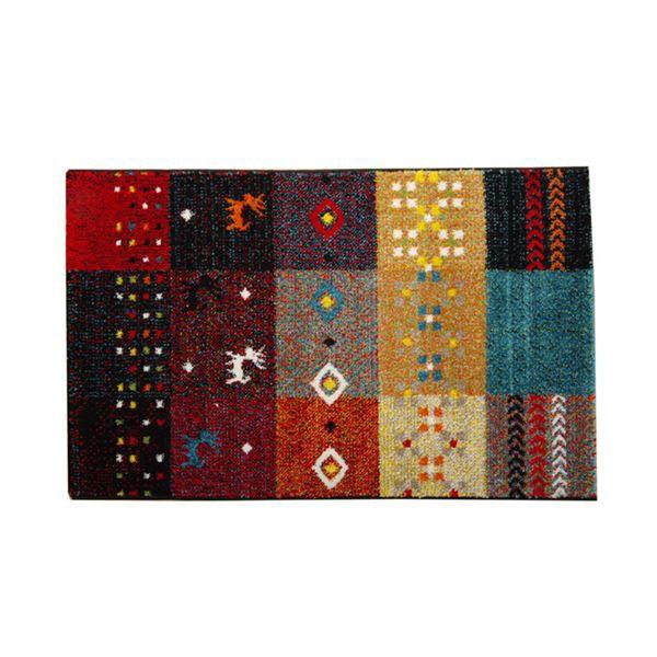 玄関マット フロアマット トルコ製 ウィルトン織り 『フォリア』 レッド 約70×120cm 【送料無料】