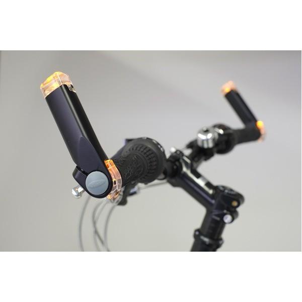 多機能ウィンカー(自転車方向指示器) 〔180degree〕 バーエンド MW-01 ブラック(黒) 〔自転車パーツ/アクセサリー〕 〔送料無料〕