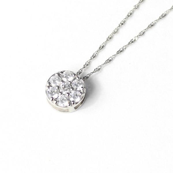 大割引 プラチナ SIクラス 0.3ct ダイヤモンド 7ストーン フラワー デザイン ペンダント ネックレス 〔送料無料〕, 縁起舎 cd383f16