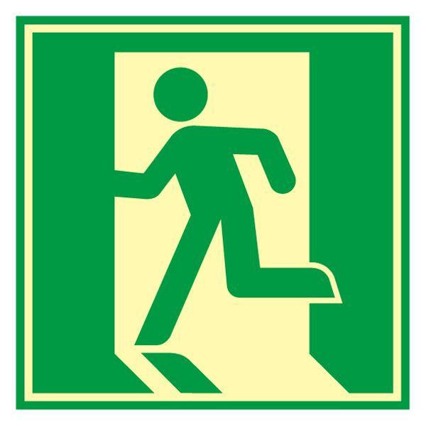 ドア用避難標示 蓄光 E 〔送料無料〕