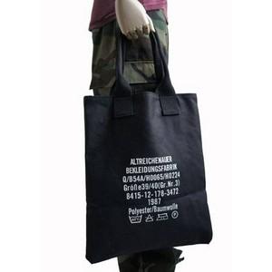 キャンパストートバッグ ロゴ入り ブラック 【送料無料】
