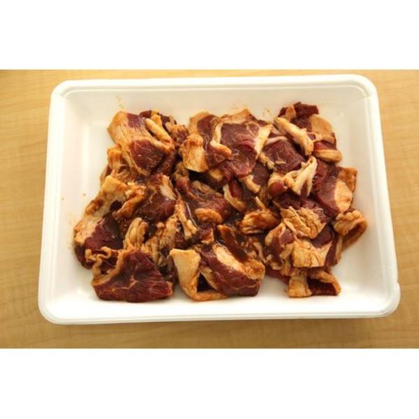 アメリカ産焼肉用タレ漬け牛カルビ(辛味噌味)1kg 〔送料無料〕