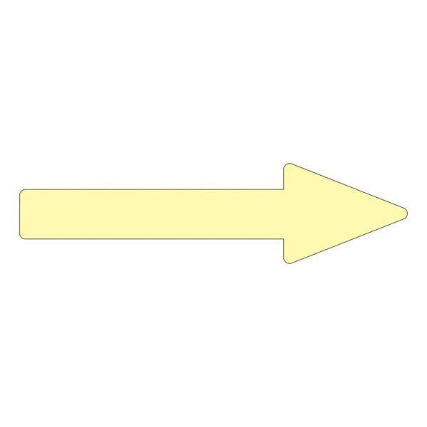 配管識別方向表示ステッカー →(蛍光黄) 貼矢24 〔10枚1組〕 〔送料無料〕