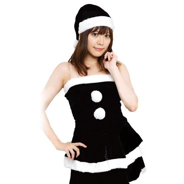 クリスマスコスプレ/衣装 [BLACK VELVET] レディースブラックサンタ 『Ladie\u0027s Santa costume』 [イベント  パーティー]|au Wowma!(ワウマ)
